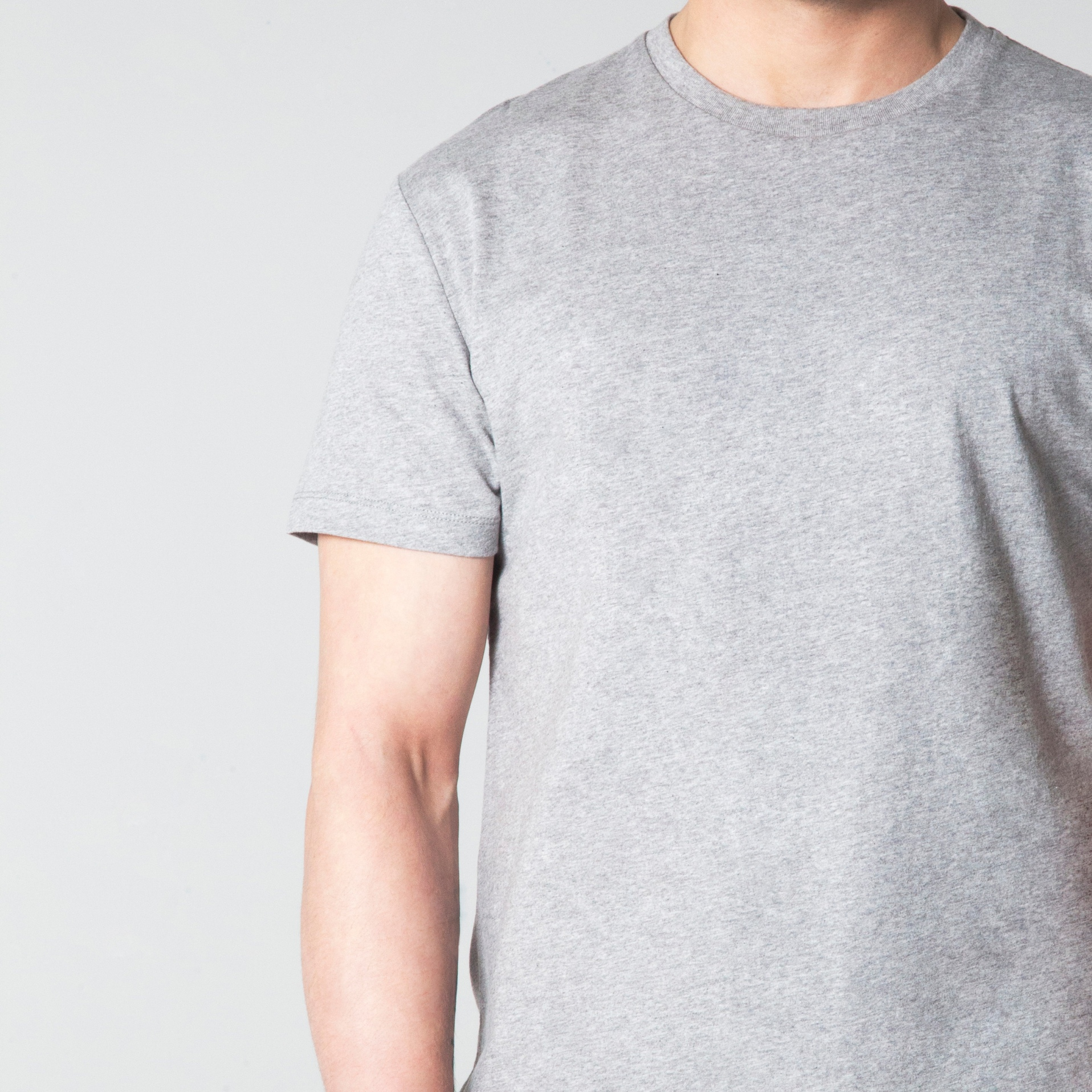 OURVER Grey Melange T-Shirt new