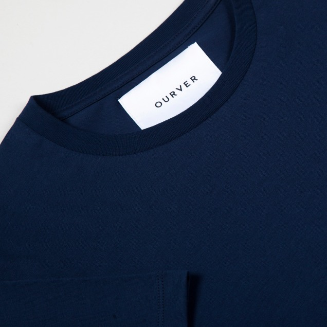 OURVER Navy T-Shirt Detail